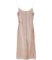 marco de vincenzo wave print dress