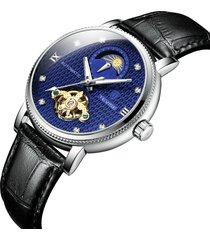 orologi meccanici automatici luminosi di stile di affari 24 ore di manifestazione degli uomini dell'esposizione