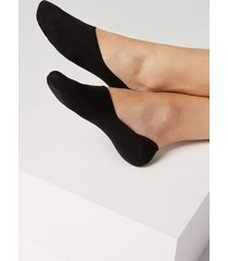 calzedonia unisex cotton invisible socks woman black size 44-45