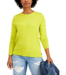 style & co petite crewneck sweater, created for macy's