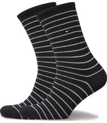 th women sock 2p small stripe lingerie socks regular socks svart tommy hilfiger