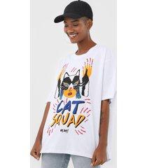camiseta oh, boy! cat squad branca - branco - feminino - algodã£o - dafiti