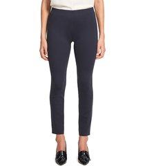 theory women's skinny leggings - black - size xs