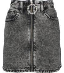 alessandra rich denim mini skirt