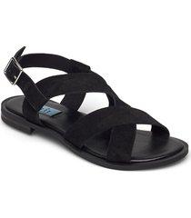 plain sandal round shoes summer shoes flat sandals svart apair