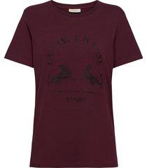 fqchelly-tee t-shirts & tops short-sleeved röd free/quent