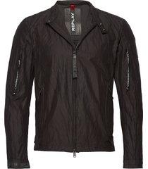 jacket tunn jacka svart replay