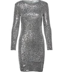 lenjuela knälång klänning silver mango