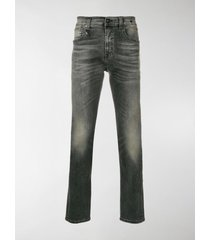 r13 stonewashed slim fit jeans