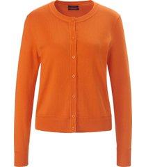 vest 100% katoen lange mouwen van gant oranje