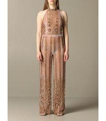 blumarine dress long blumarine jumpsuit with sequins