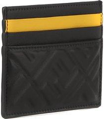 fendi black nappa leather card holder