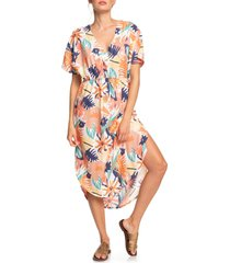 women's roxy flamingo shades print dress, size x-small - coral