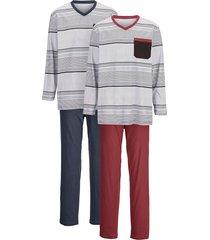 pyjama g gregory 1x bordeaux, 1x marine