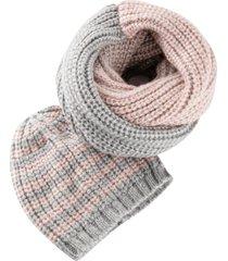 sciarpa ad anello e berretto (set 2 pezzi) (grigio) - bpc bonprix collection