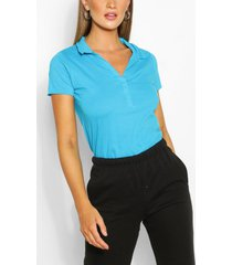basic polo t-shirt, blauw