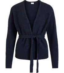cardigan visuril knit belt l/s cardigan