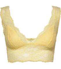 pclina lace bra top bh gul pieces
