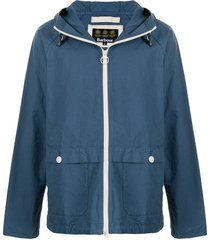 barbour bennet casual hooded jacket - blue