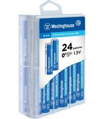 westinghouse aaa dynamo alkaline 24pk in storage case