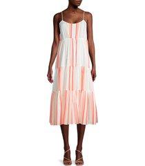 for the republic women's tiered striped midi dress - stripe - size l