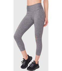 legging everlast mid angel gris - calce ajustado