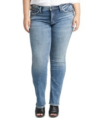 silver jeans co. trendy plus size suki curvy-fit straight-leg jeans