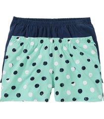 shorts per pigiama (pacco da 2) (verde) - bpc bonprix collection