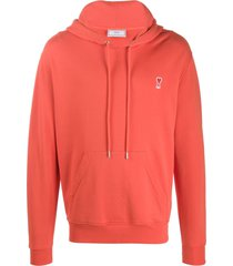 ami ami de coeur patch hooded sweater - red