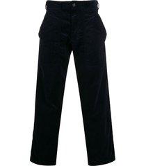 comme des garçons shirt corduroy straight-leg trousers - blue