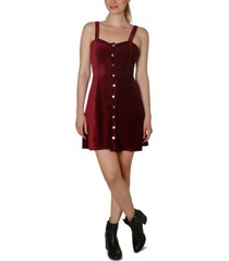 ultra flirt juniors' corduroy a-line dress