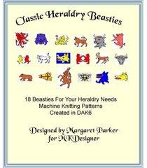 18 classic heraldry beasties machine knit design-a-knit file