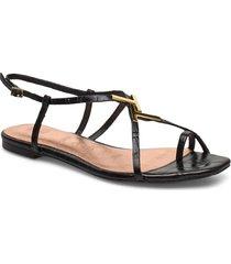 lerinna shoes summer shoes flat sandals svart ted baker