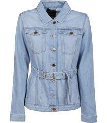 pinko light blue cotton jacket