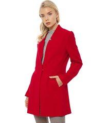abrigo ash rojo - calce regular