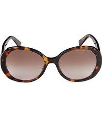 marc jacobs women's 56mm oval sunglasses - havana