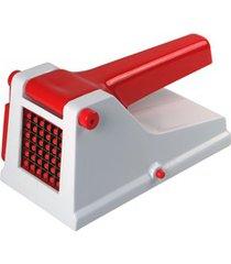 cortador de batata branco e vermelho
