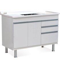 gabinete para cozinha em mdf ferrara 120x70cm branco