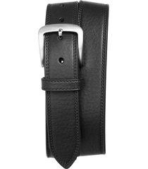 men's shinola double stitch leather belt, size 34 - black