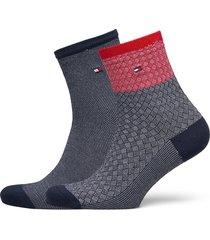 th women short sock 2p refined argy lingerie socks regular socks blå tommy hilfiger
