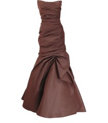 drape trumpet gown