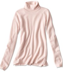 classic cashmere turtleneck sweater, rose, small