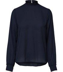 blouse petite - hoge kraag
