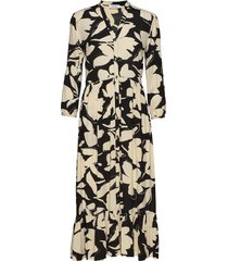 3/4 slv button v-nk jurk knielengte multi/patroon calvin klein