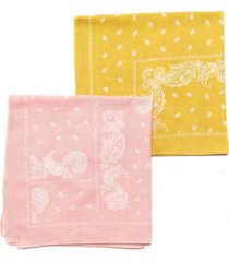 collection xiix traditional square bandana set, 2 pack
