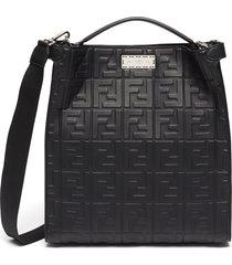 'peekaboo x-lite fit' monogram embossed leather tote bag