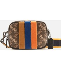 coach 1941 women's coated canvas small camera bag - brown/black