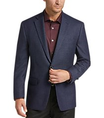 lauren by ralph lauren blue check classic fit sport coat