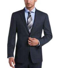 tommy hilfiger blue plaid slim fit suit