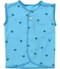 camiseta esqueleto estampado corazones azules santana x2 unidades